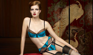 性感内衣广告美女模特摄影高清图片