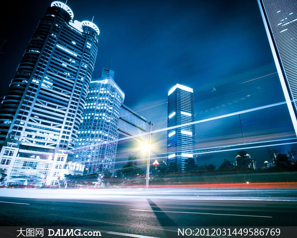 高清繁华都市大�_繁华城市夜晚街景创意摄影高清图片