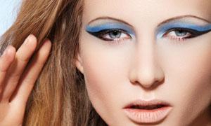 长发彩妆外国美女人物高清摄影图片