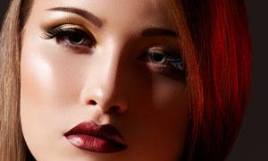 露肩长发美女模特人物摄影高清图片