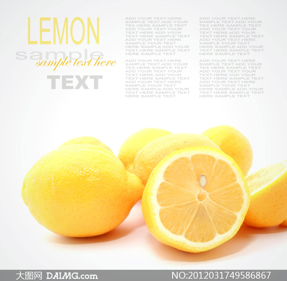 切开的新鲜柠檬高清摄影图片