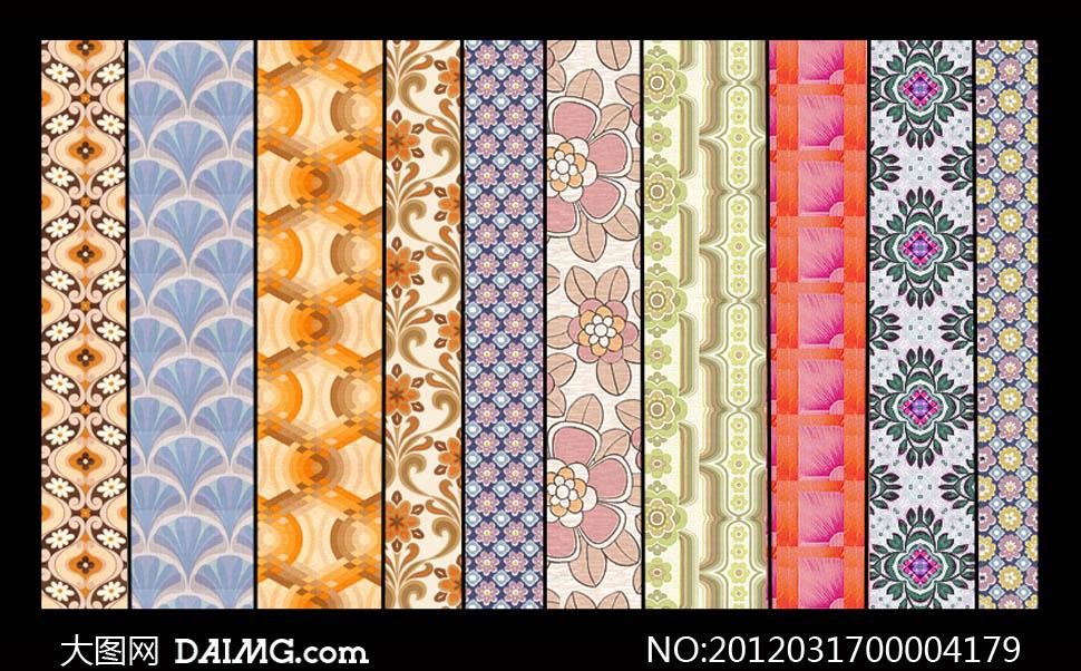 古典花纹填充图案 - 大图网设计素材下载