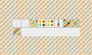 格子和斜纹填充图案