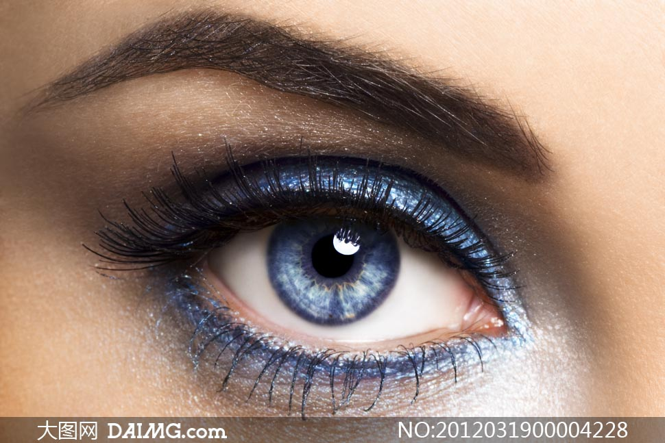 欧美女性眼睛特写摄影图片 大图网设计素材下