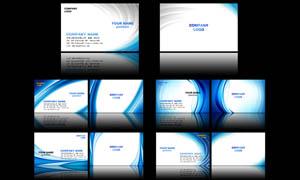 蓝色调科技名片设计PSD源文件