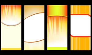 黄色展板背景设计PSD分层素材
