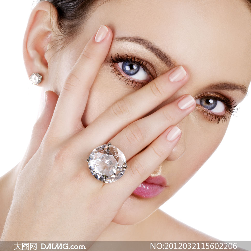 珠宝戒指展示美女模特局部摄影高清图片