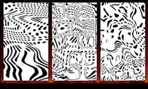 黑白艺术效果填充图案