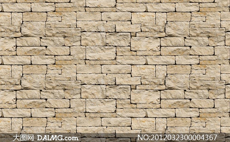 石头墙面纹理背景填充图案