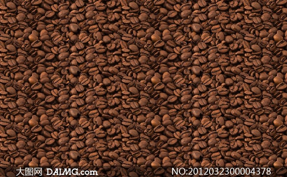 咖啡豆背景ps填充图案
