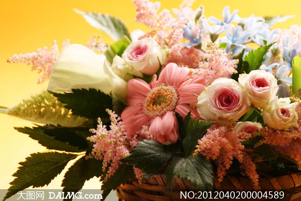 婚礼花篮花束摄影图片素材