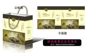 中国风企业手提袋设计矢量素材