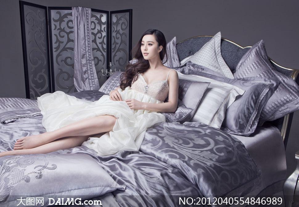 美女高清囹�a��9�k_凯盛家纺广告美女人物摄影高清图片