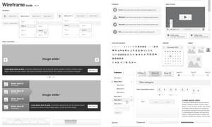 灰色调网页UI设计模板矢量素材