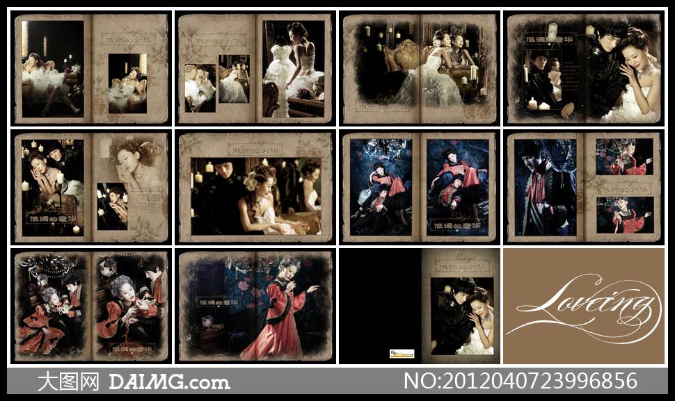 素材婚纱样册婚纱摄影婚纱照样册婚纱照摄影样册设计相册设计版式设计