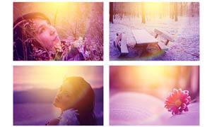 照片炫彩的光照效果调色动作