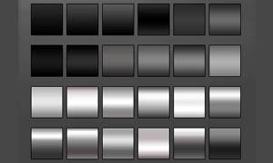 黑白金属效果PS渐变素材