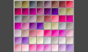 粉色系柔美的PS渐变