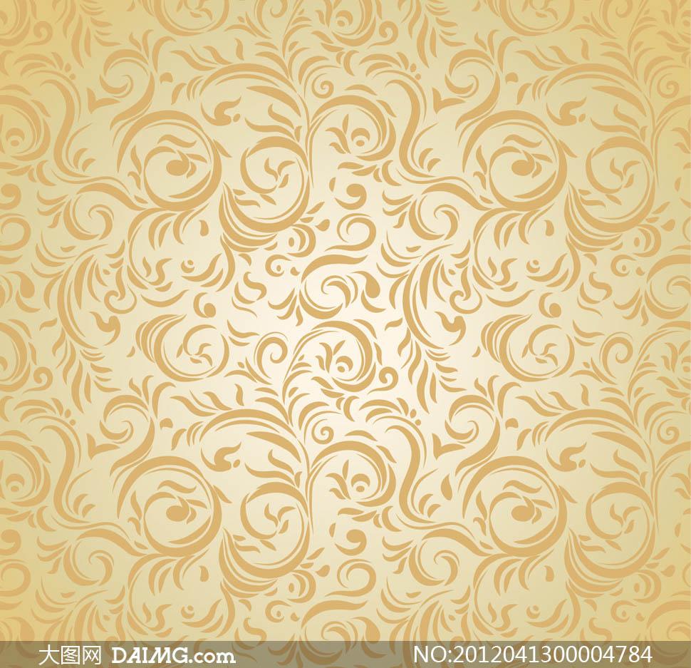 墙纸花纹复古花纹古典花纹时尚花纹欧式边框装饰花纹