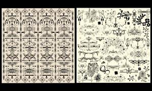 欧式花纹花边设计元素矢量素材