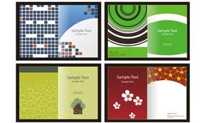 书籍和画册封面设计矢量素材