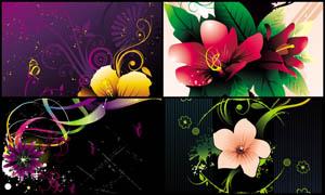 时尚潮流花朵设计元素矢量素材