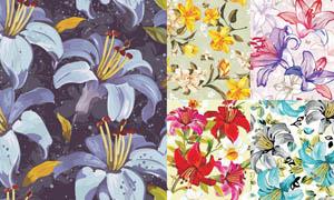 手绘花朵背景设计矢量素材
