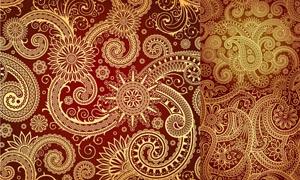 传统花纹背景设计矢量素材