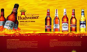百威啤酒广告设计模板PSD源文件