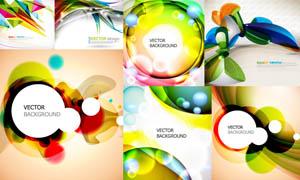 时尚动感炫彩圆形背景设计矢量素材