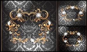 金色装饰花纹设计矢量素材