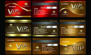 金色风格VIP会员卡设计PSD源文件