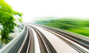 铁路道路冲击动感摄影高清图片