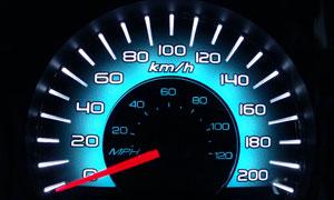 汽车速度仪表盘高清摄影图片