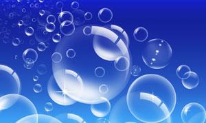 蓝色泡泡高清图片