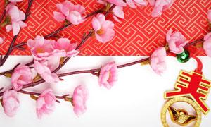 古典传统底纹春节主题高清图片
