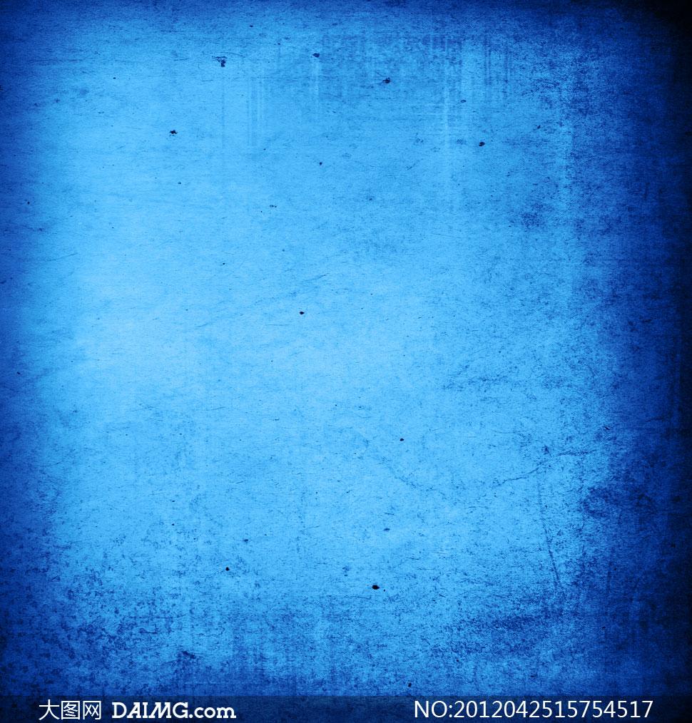 蓝色颓废污渍背景高清图片