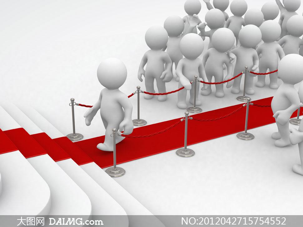 关键词: 高清大图图片素材创意设计3d小人红毯红地毯铺地护栏台阶人群
