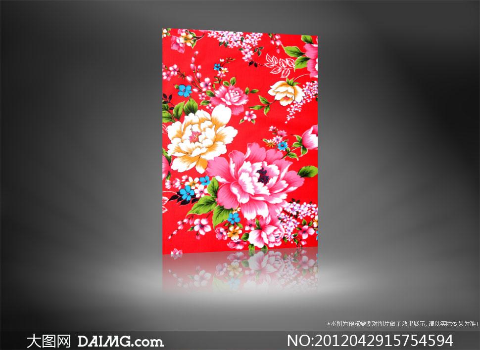 手绘花朵图案背景高清图片