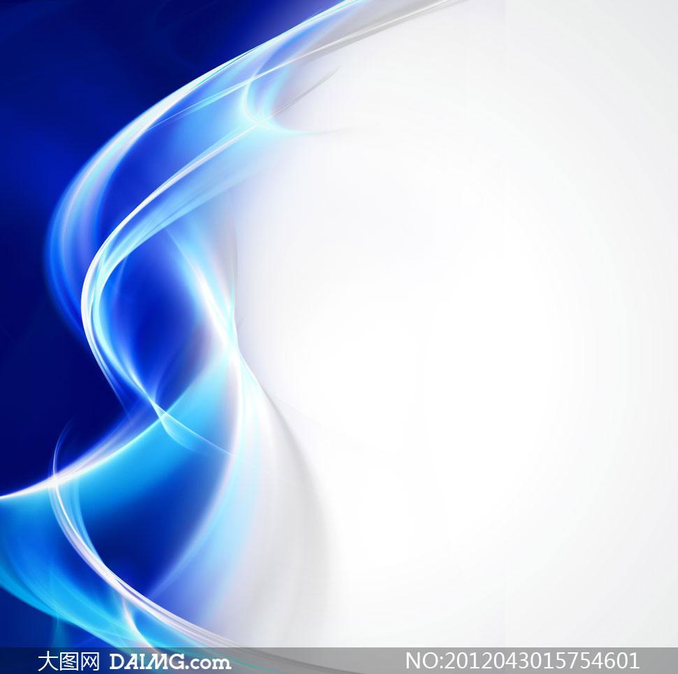 炫丽线条曲线背景高清图片