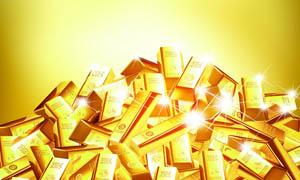 堆叠在一起的金条PSD分层素材