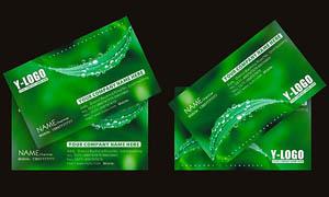 绿色清爽名片设计矢量素材