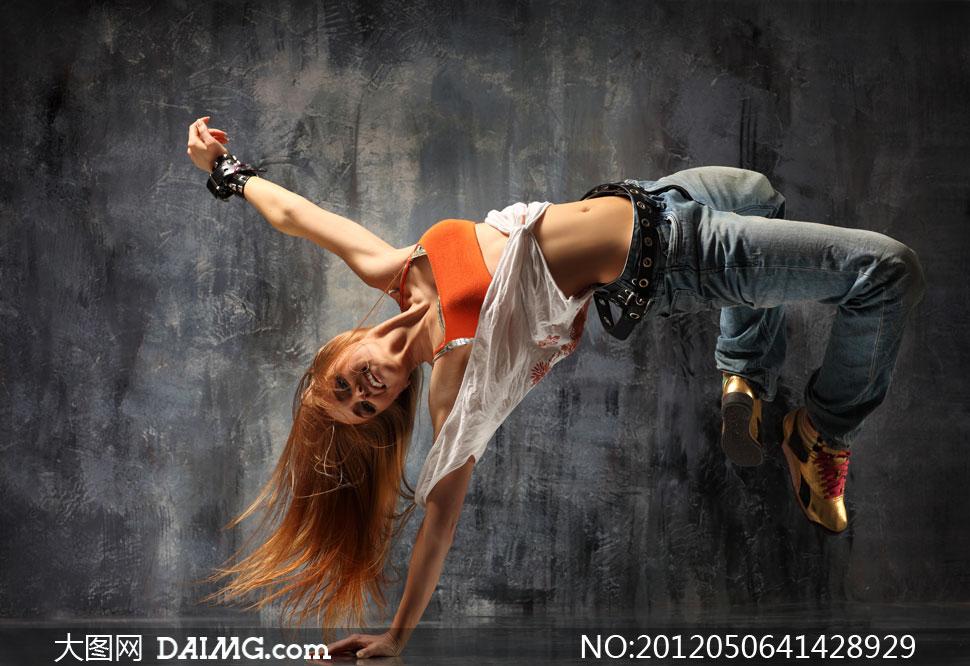 动感舞者人物摄影高清图片