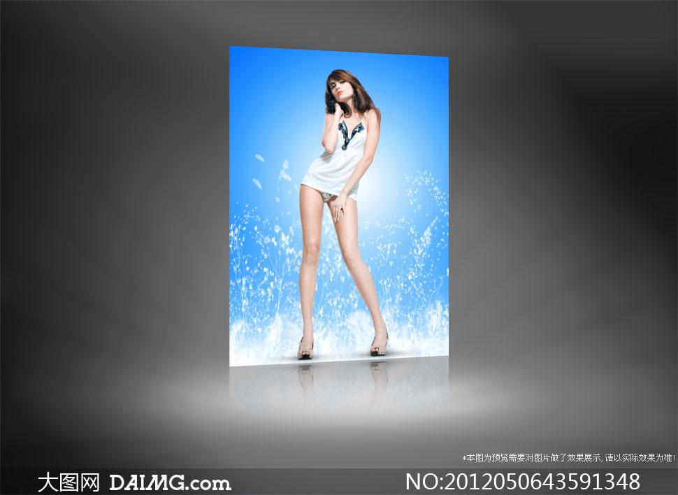 外国长腿美女模特摄影高清图片 大图网设计素