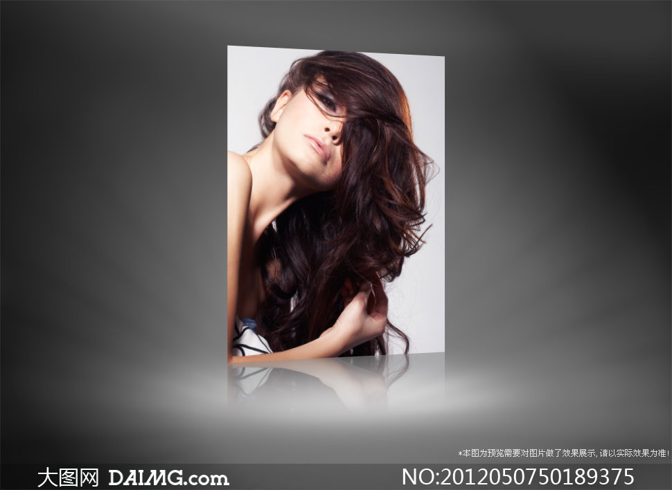 浓密秀发外国美女人物摄影高清图片 大图网设