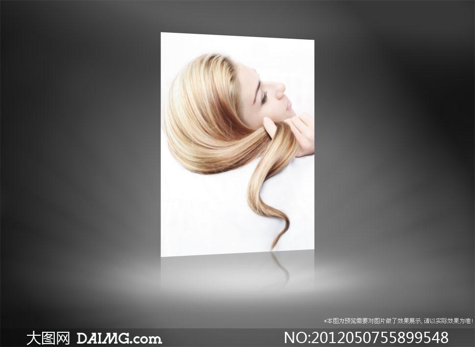 关键词: 高清图片大图素材摄影人物美女头发发型侧面长发打卷靓丽美丽
