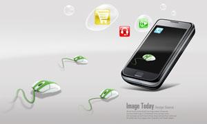 手机移动终端与鼠标PSD分层素材