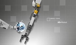 机器手臂与地球创意主题PSD分层素材
