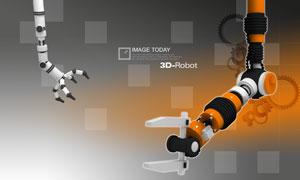 机器手臂齿轮格子PSD分层素材