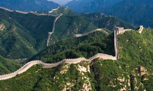 八达岭长城全景摄影图片